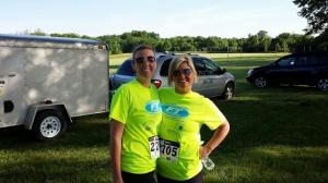 Tiffany and Aubrey Owen ran Fitness Together 5K run